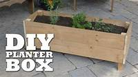 build a planter box How To Build a Planter Box - YouTube