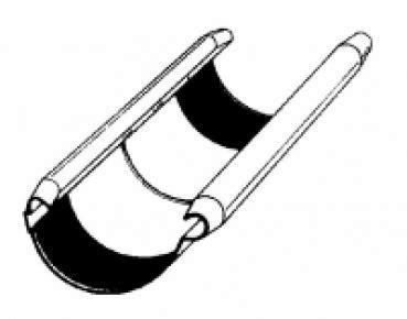 dachrinnenverbinder kunststoff 150 trobak dachrinnenverbinder weiss nw 150