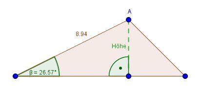 winkelfunktionen im nicht rechtwinkligen dreieck berechnen