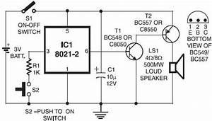 Circuit Diagram Of Doorbell