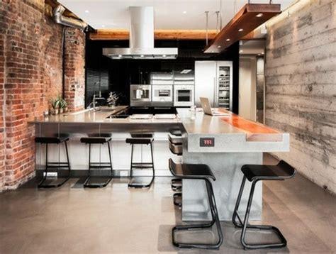 modele cuisine noir et blanc idée relooking cuisine cuisine industrielle en noir et