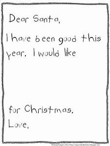 freebielicious simple letter to santa With simple letter from santa