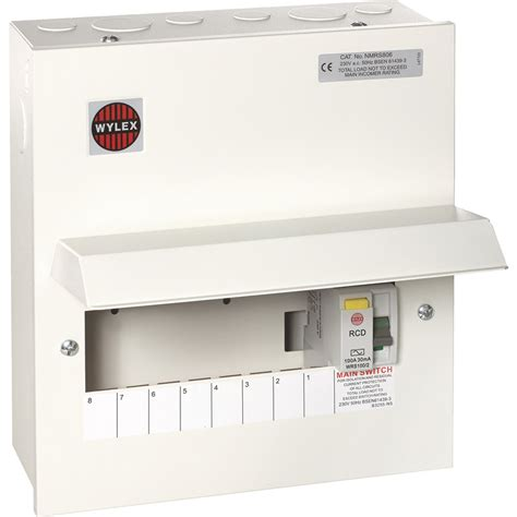 wylex metal 17th edition amendment 3 100a dp consumer unit 8 way 100a dp 30ma rcd toolstation