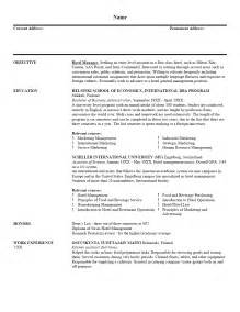 Cover Letter Tlates Resume Objective For Internship