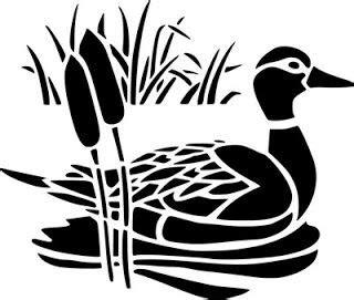 silhouettepatterns duck pond bird stencil stencils