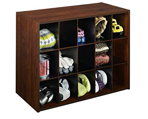 Closetmaid Stackable 15 Cube Organizer - closetmaid 1302 stackable 15 cube organizer cherry