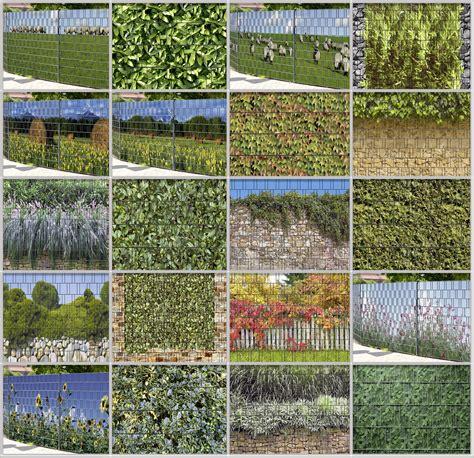 Sichtschutz Garten Ebay by Doppelstabmattenzaun Sichtschutz Mit Pflanzen Naturmuster
