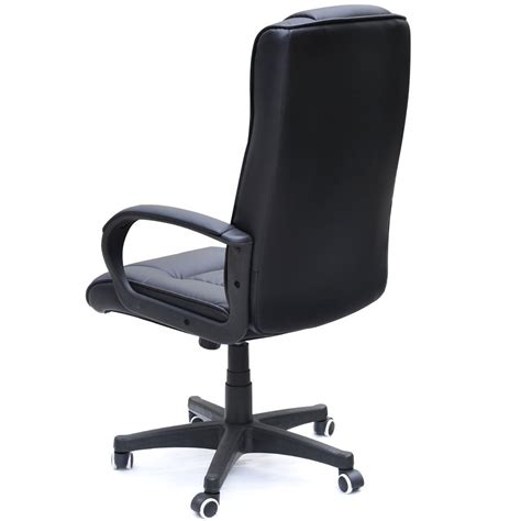 padded cow split leather high back office chair which