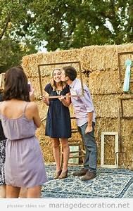 Decor Photobooth Mariage : photo booth pour les invit s d un mariage dans une ferme d coration mariage id es pour ~ Melissatoandfro.com Idées de Décoration