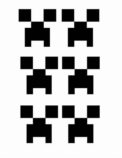 Creeper Face Cut Table Printouts Paper Square