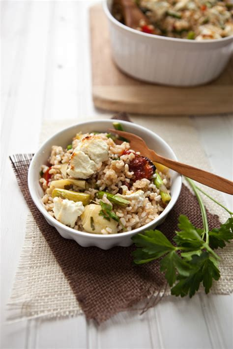 Mediterraneanstyle Brown Rice Bake  Food For My Family