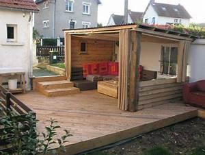 Terrasse Bois Palette Esprit Cabane Idees Creatives Et