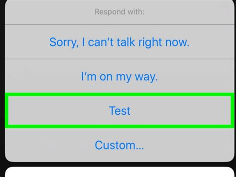 How To Respond To Incoming Calls With A Message On An Iphone