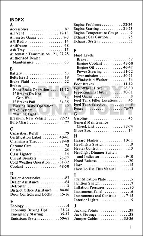 ford bronco reprint owners manual  owner user