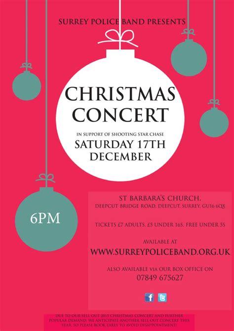 surrey police christmas concert poster farnham town council