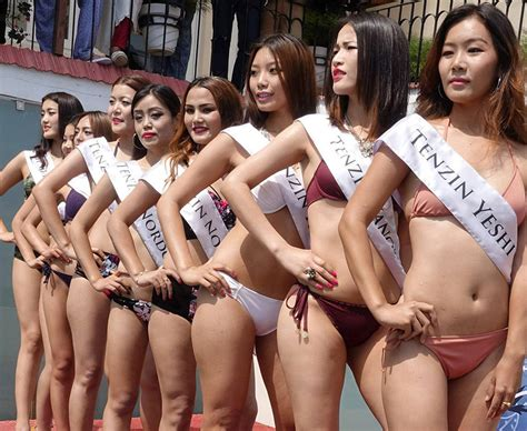 Miss Tibet Beauty Queens Raunchy Poses Shock Entire County Daily Star