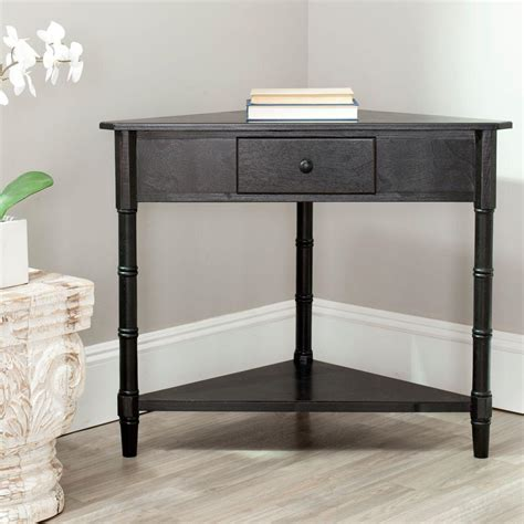 distressed black console table safavieh gomez distressed black storage console table
