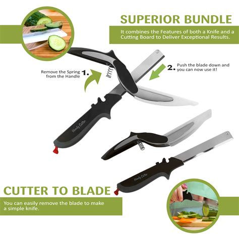 cuisine tv plus handy clever cutter bundle 2 in 1 food chopper kitchen