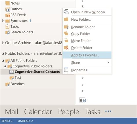 Office 365 Outlook Contacts by Create A Company Shared Contacts Folder In Office 365