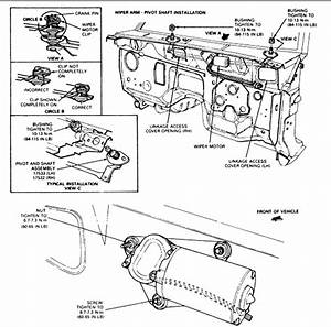 how tor replace a wiper motor in a 1992 ford ranger pickup With tundra wiper motor replacement motor repalcement parts and diagram