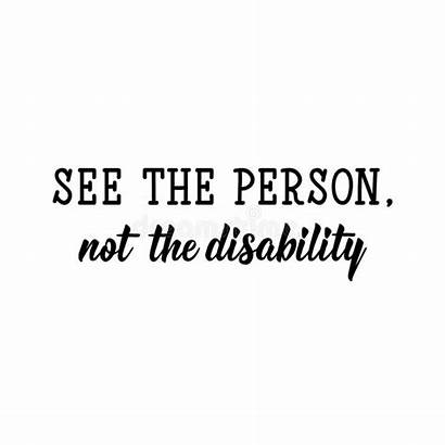 Disability Person Calligraphy Lettering Ink Quotes Possibilities