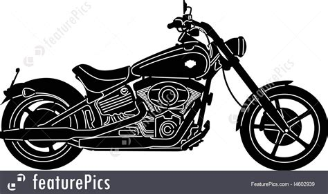 Illustration Of Motorcycle Silhouette