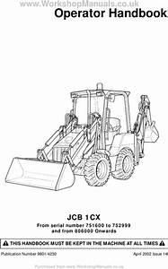 Jcb 1cx Operator Handbook Download