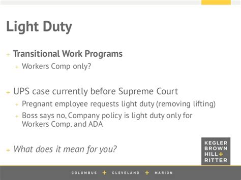 workers compensation light duty policy 2014 workers compensation seminar
