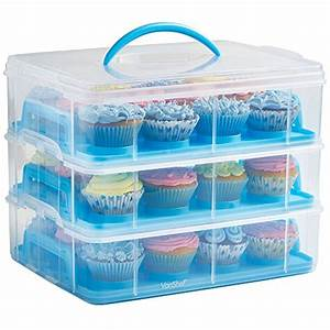 vonshef snap and stack blue 3 tier cupcake holder cake With what kind of paint to use on kitchen cabinets for removing candle wax from candle holder