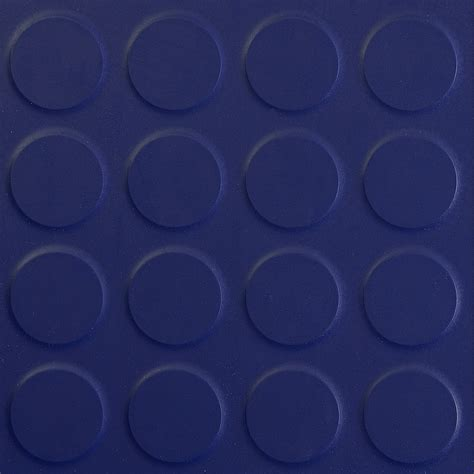 Rubber floor tile round stud Navy Blue   The Rubber Floor