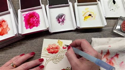 tips  watercoloring heat embossed floral images water coloring techniques embossed cards