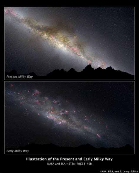 how is the milky way formed milky way evolution new hubble data show how our galaxy