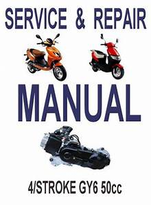 Gy6 50cc Scooter Service Repair Manual Rebuild Fix Chinese