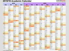 Academic calendars 20152016 as free printable Word templates