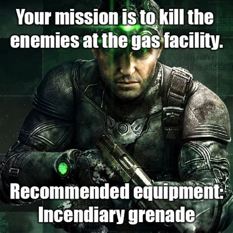 Splinter Cell Meme - the most awesome images on the internet comedy fun and weapons