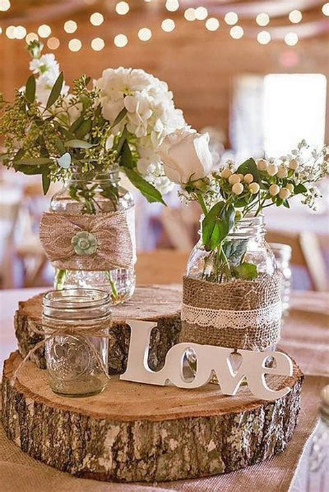 ideas  budget rustic wedding decorations deco