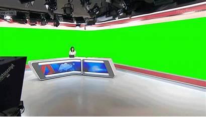 Cna Virtual Screen Studio Heavy Newscaststudio Desk