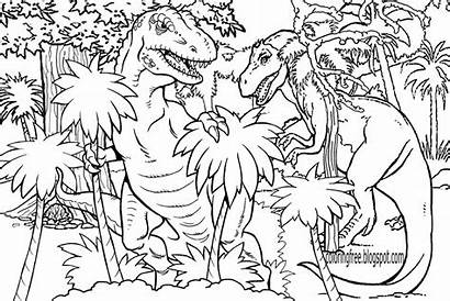 Coloring Pages Dinosaur Drawing Jurassic Dinosaurs Printable