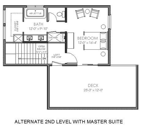 small master suite floor plans contemporary small house plan