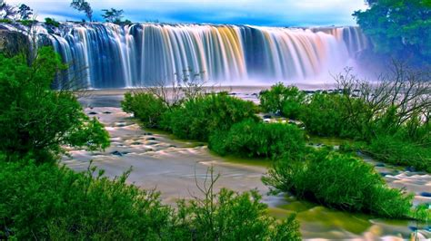 Animated Waterfall Wallpaper - rainbow waterfall wallpaper and background image