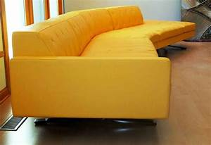 Light yellow leather sofa cabinets beds sofas and for Yellow leather sofa bed