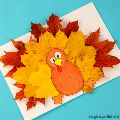 wonderful fall leaf crafts ideas easy peasy and 124 | Turkey Leaf Craft Template