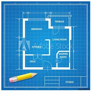 U0026quot, Vector, Furniture, Architect, Blueprint, Background, Flat, Design, U0026quot, Stock, Image, And, Royalty