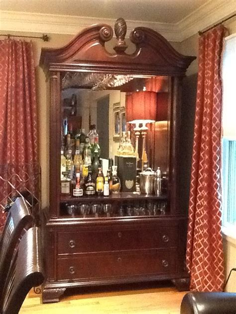 Armoire Bar Ideas Turned Bedroom Tv Armoire Into A Bar Bar Ideas