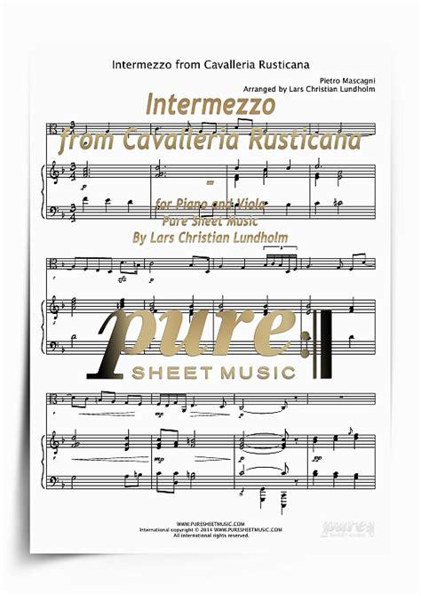 intermezzo from cavalleria rusticana for piano and viola