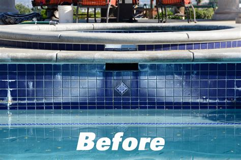 refelctions pool and spa tile cleaning glass bead blasting
