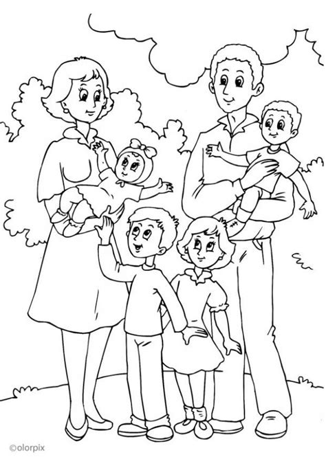 Families Kleurplaat by Theme Family Coloring Pages Juf Milou