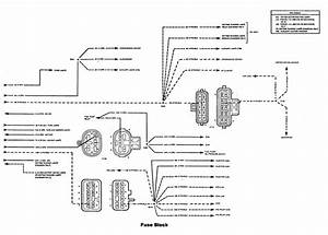 Chevrolet Astro  1992 - 1993  - Wiring Diagrams - Fuse Box
