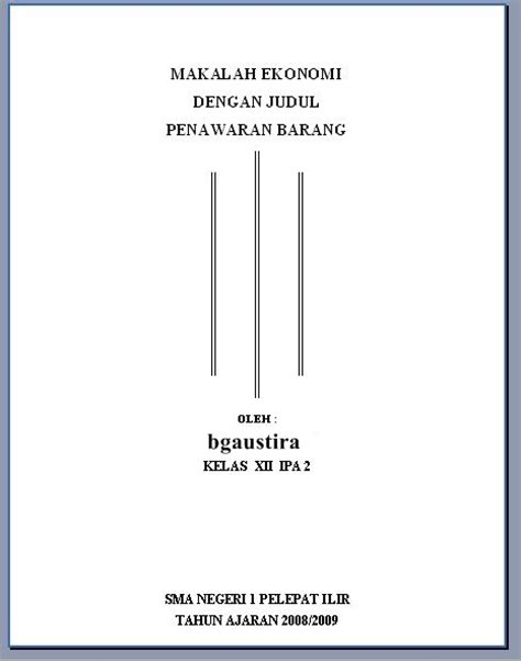 contoh makalah hukum fontoh