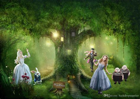 2019 7x5ft Alice Wonderland Tree House Rabbit Custom Photo